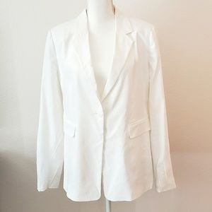 Vince Camuto Stretch Cotton One Button Blazer, New